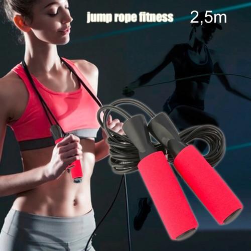 Fitness corda allenamento per saltare e aerobica in gomma lunghezza 2,5 metri