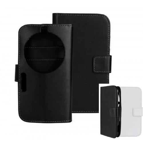 Flip COVER CUSTODIA CASE fashion con windows per Samsung GALAXY K ZOOM c1158