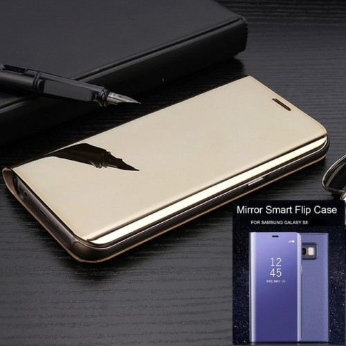 Flip COVER CUSTODIA CASE mirror auto sleep view per samsung S6 S7 Edge S8 Plus