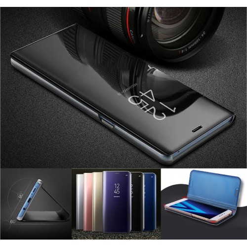 Flip COVER CUSTODIA CASE mirror intelligente view per samsung S6 S7 Edge S8 Plus