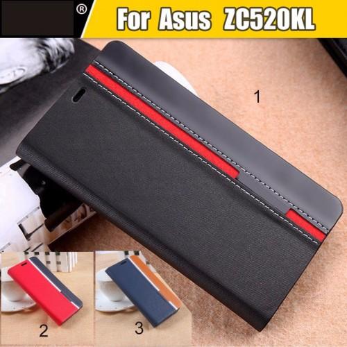 Flip Cover Custodia case cuoio + TPU protezione per asus zenfone 4 Max ZC520KL