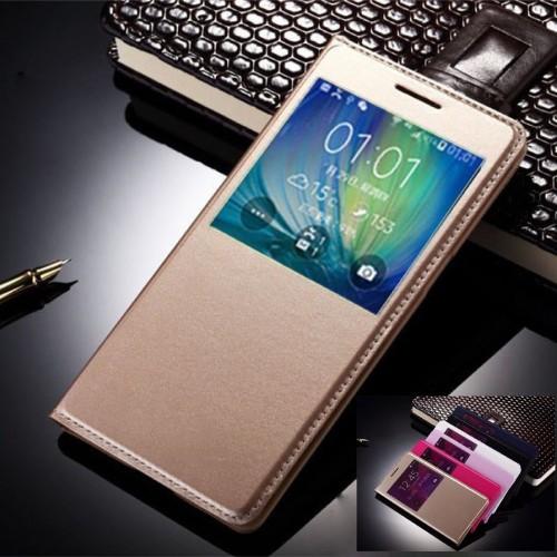 Flip Cover Custodia case elegante con window  per Samsung Galaxy A3 A5 A7 2017
