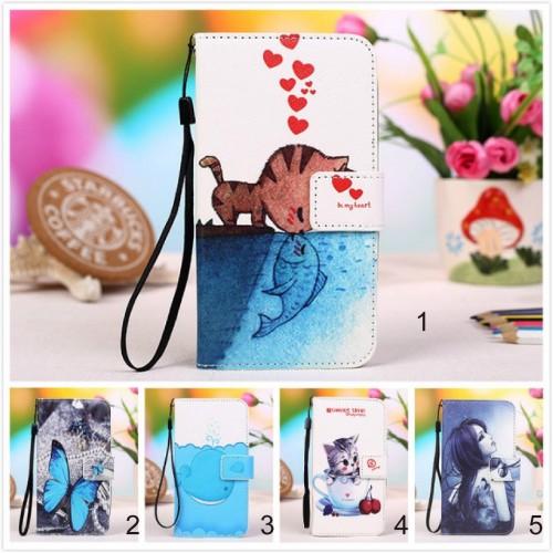 Flip Cover Custodia cuoio slotcard gatto farfalla per asus zenfone 4 Max ZC554KL