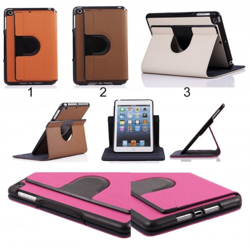 Flip Cover custodia Case 360° pelle antiurto per Apple IPad 1 2 3 mini + vetro