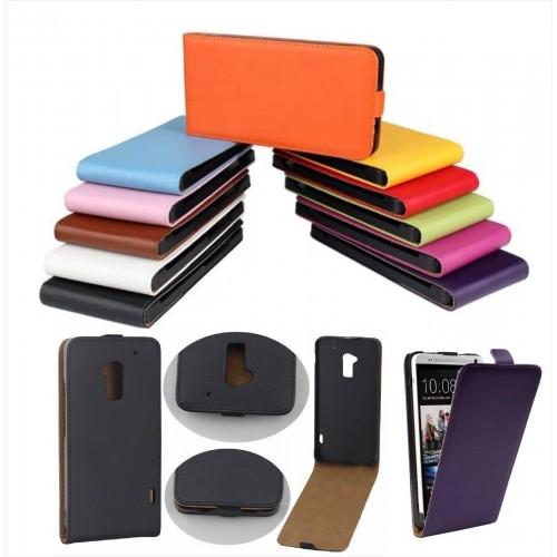 Flip Cover custodia Case Pelle clip magnetico verticale per modelli HTC One Max
