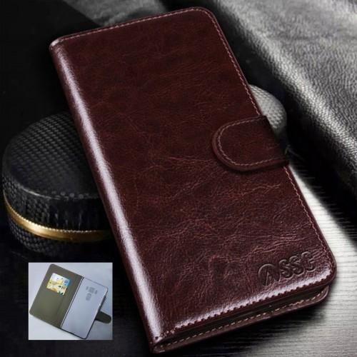 Flip Cover custodia Case cuoio con slot card per Asus Zenfone 3 deluxe ZS570KL