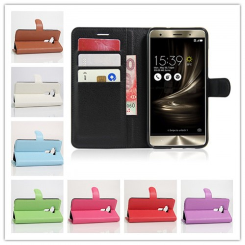 Flip Cover custodia Case cuoio magnetic slot card Asus Zenfone 3 deluxe ZS570KL