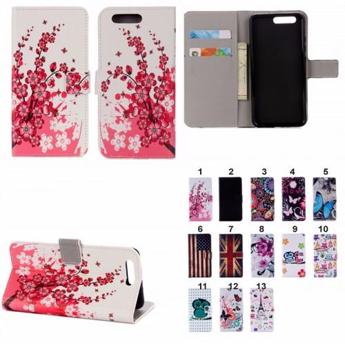 Flip Cover custodia Case cuoio tasche con porta card per Asus Zenfone 4 ZE554KL