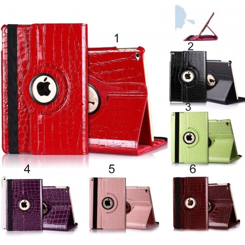 Flip Cover custodia Case in pelle coccodrillo per Apple IPad 2 3 4 9.7