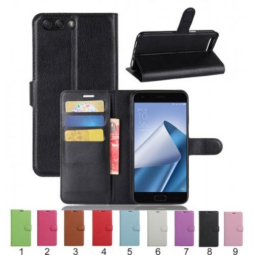 Flip Cover custodia Case magnetic pelle con portacard per Asus Zenfone 4 ZE554KL