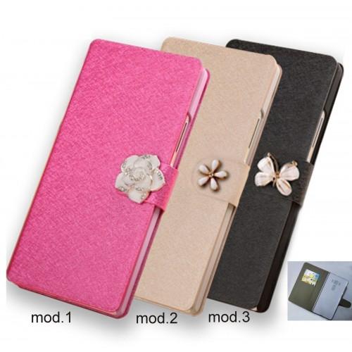 Flip Cover custodia Case pelle con slot card per Asus Zenfone 3 deluxe ZS570KL