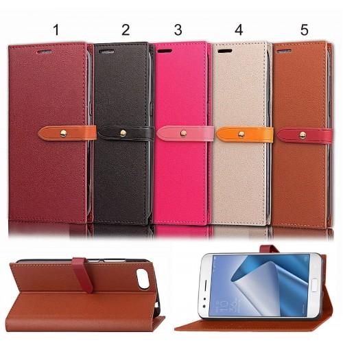 Flip Cover custodia Case pelle elegante a libro per Asus Zenfone 4 Pro ZS551KL