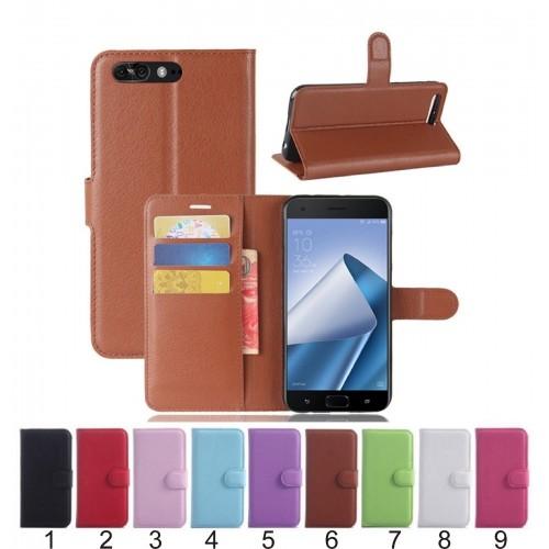 Flip Cover custodia Case pelle magnetic slotcard per Asus Zenfone 4 Pro ZS551KL