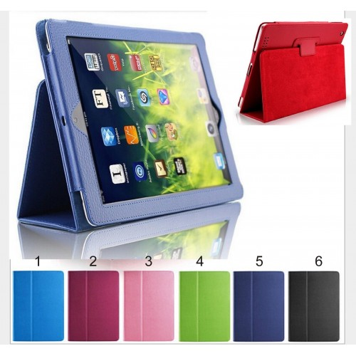 Flip Cover custodia Case wakeup libro antiurto per Apple IPad 1 2 3 mini + vetro
