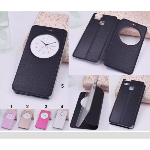 Flip Cover custodia Case window Fashion pelle per Asus Zenfone 3 S Zoom ZE553KL