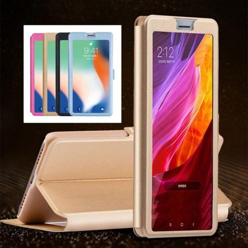 Flip Cover custodia case  cuoio con finestra per Asus Zenfone 5 5Z lite Live L1