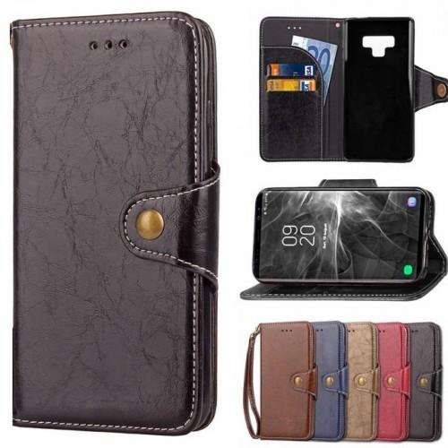 Flip Cover custodia clip con slotcard pelle per Samsung Galaxy note 3 4 5 8 9