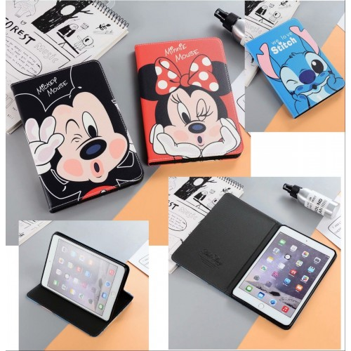 Flip Cover custodia in cuoio/silicone minnie stitch per Apple IPad 1 2 3 4 mini