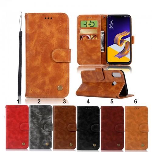 Flip Cover custodia tasche bancomat cuoio per Asus Zenfone 5 5Z ZS620KL ZE620KL