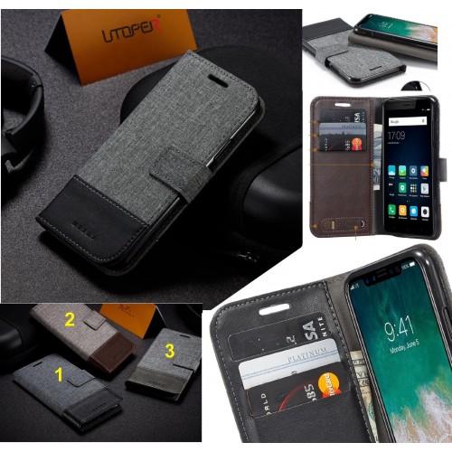Flip Cover custodia tasche bancomat pelle per Asus Zenfone 5 5Z ZS620KL ZE620KL