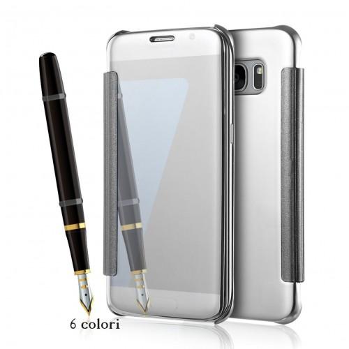 Flip Custodia Cover case plastica effetto specchio  Samsung Galaxy S8 & S8 Plus