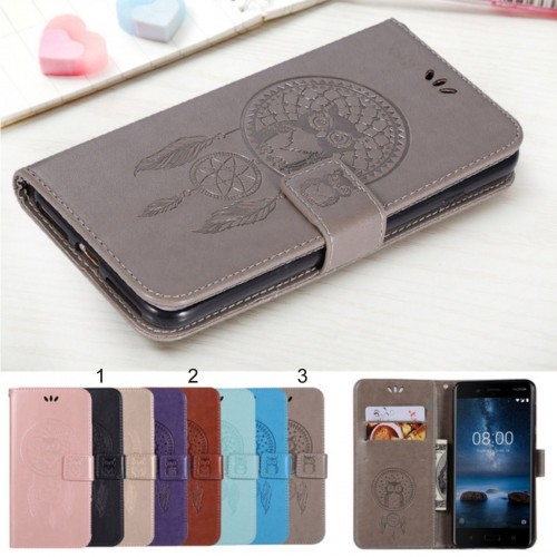 Flip Custodia cover case per Nokia 1 2 3 5 6 7 8 9 X5 X6 pelle magnetica Fashion