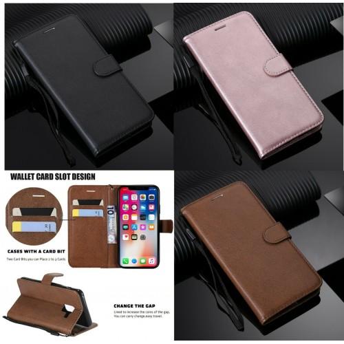 Flip cover Custodia magnetica cuoio 3 slot card per Samsung  S8 S9 S10 S10E Plus