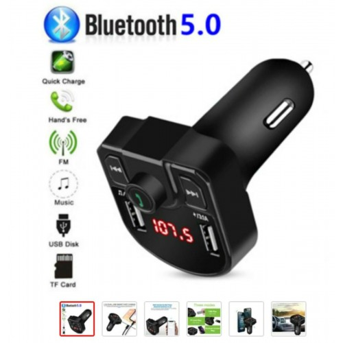 KIT VIVAVOCE FM MP3 USB PER AUTO BLUETOOTH CARICABATTERIE TABLET smartphone