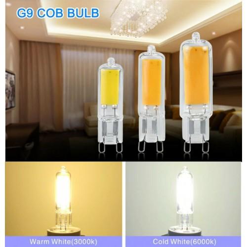 LAMPADA LAMPADINA LED G4 G9 6W 9W 12W 15W cob LUCE bianco caldo/freddo 220V
