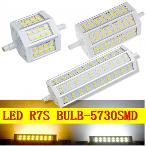 LAMPADA LAMPADINA LED R7S LUCE 180° 78/118/189 mm dimmerabili 220V 15 25 30 40 W
