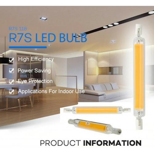 LAMPADA LAMPADINA LED R7S LUCE 78/118 mm 220-230V 4.15W 30W 40W 50W dimmerabili