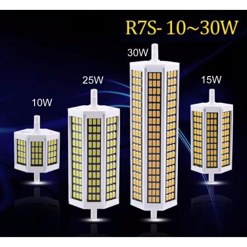 LAMPADA LAMPADINA LED R7S LUCE smd5730 78/118/135/189 mm 200-239V 10 20 25 30 W