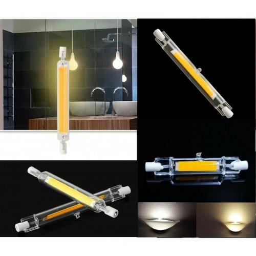 LAMPADA LAMPADINA LED R7S cob LUCE 78/118mm 220-230V 10W 20W 25W 30W dimmerabili