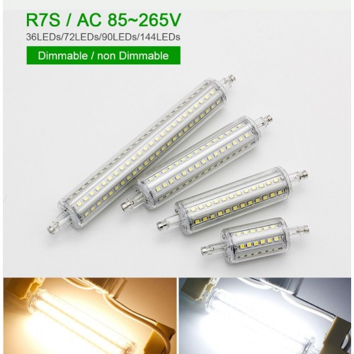 LAMPADA LAMPADINA LED R7S smd2835 LUCE 360° 78/118/135/189 mm 220V 5 10 12 15 W