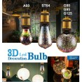 LAMPADA LAMPADINA luce 3D fuochi d'artificio per decorazione Festa E27 AC85-265V