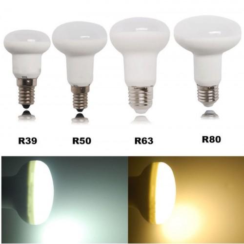 LAMPADA LAMPADINE LED REFLECTOR E14 R39 5W R50 7W R63 10W E27 R80 12W dimmerabil