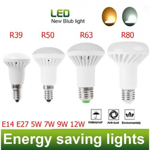 LAMPADA LAMPADINE LED REFLECTOR E14 R39 5W R50 7W R63 9W E27 R80 12W BULBO