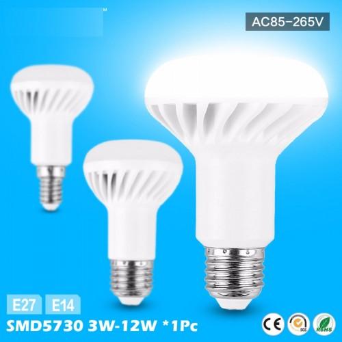 LAMPADA LAMPADINE LED smd 5730 E14 R39 5W R50 7W R63 9W E27 R80 12W 3W BULBO