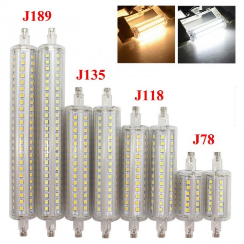 LAMPADINA LED dimmable R7S smd2835 LUCE 360° 78/118/135/189 mm 220V 5 10 12 15 W
