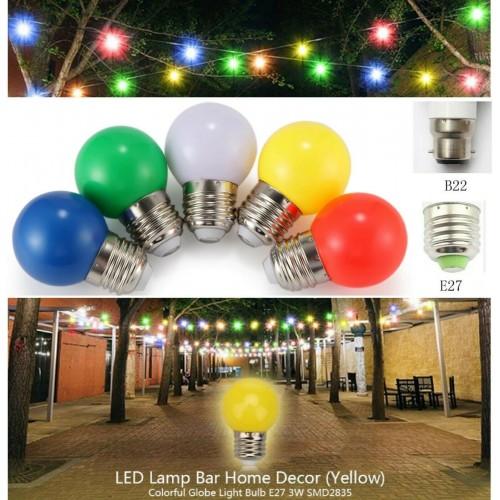 LAMPADINA a led luce colorata 1W 3W per decorazione Festa E27 B22 basso consumo