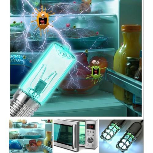 LAMPADINA luce ultravioletta raggi UV 3W E17 per disinfezione Acari frigorifero