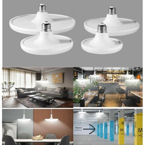 Lampadine LED E27 20W 40W 50W 60W Lampada a forma di disco a risparmio energtico