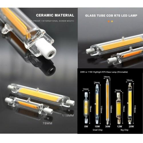 Lampadine Lampada LED R7S cob LUCE 78/118/189mm 220V 5W 15W 25W 30W faretto