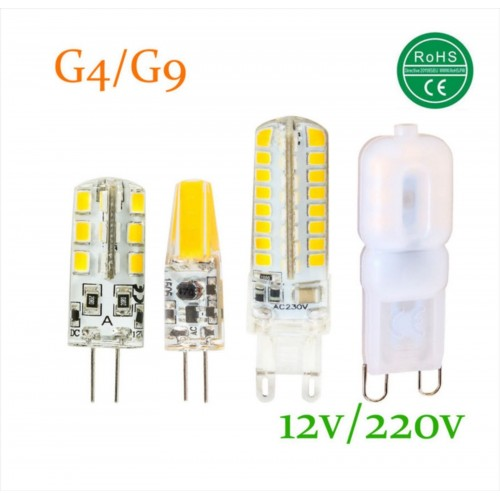 Lampadine lampade led g4 g9 cob ac dc 12v 220v smd 3814 for Lampade a led 220v