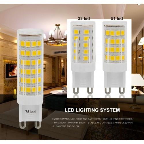 Lampadine lampade led g9 crystal dimmer ac 220v smd 2835 for Lampade a led 220v
