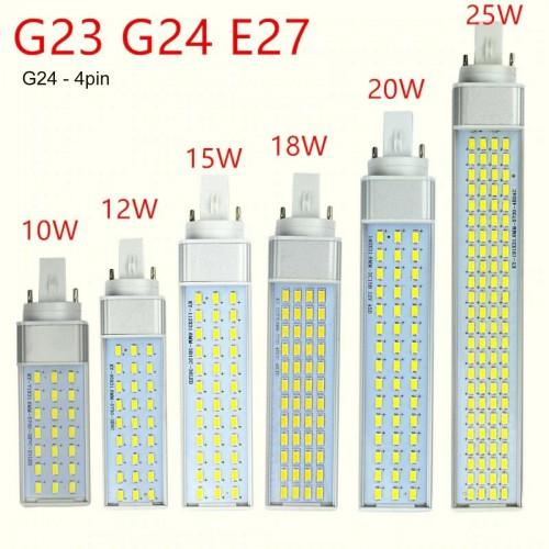 Lampadine Lampade a Led G23 G24 E27 85-265V 10 12 15 18 20 25 WATT dimmerabili