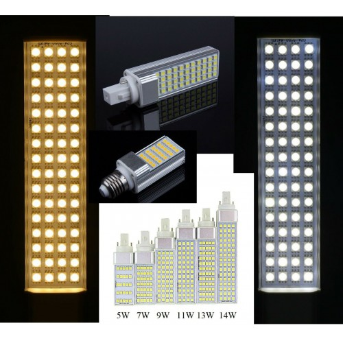Lampadine Lampade a Led G23 G24 E27 AC85-265V 5 7 9 11 13 14 WATT dimmerabili