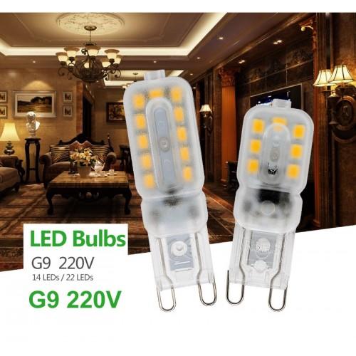Lampadine Lampade a Led G9 smd 2835 AC 220V 230V 3W 14led 5W 22led 7w 32led