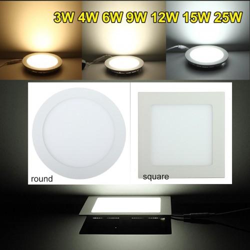 Lampadine Lampade incasso soffitto a led luci AC85-265V 3W 6W 9W 12W 15W 18W 25W