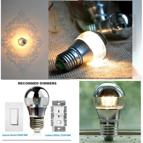 Lampadine cob lampada a Led ombra argentata  E27 E14 AC220V 5W 7W dimmerabili